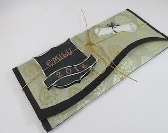 Handmade Money ,Gift Card Wallet  For Graduation,3D