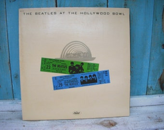 Vintage Music Rock and Roll 70s The Beatles Hollywood Bowl 1977 Vinyl Album Record Collectible Vintage Dance Dancing Party Music USA Dance