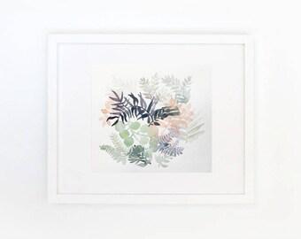 Crown botanical, watercolor, 27/21 cm