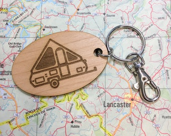 A-frame Pop Up Camper Key Fob, A-Frame Travel Trailer, Aliner Travel Trailer, A-liner Pop Up Camper, Camper Key Chain, Pop Up Travel Trailer