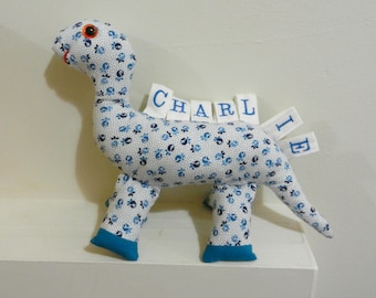 Soft Toy Taggy Dinosaur -  Personalised - Taggie