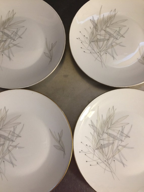 & Vintage Rosenthal China Selb Germany Plates Set of 4 Mid