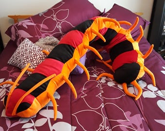 50% OFF CLEARANCE SALE Giant Plush Centipede, huge plush bug, insect doll plushie