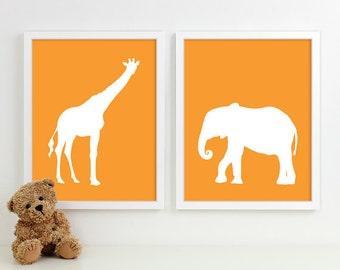 Modern Nursery Art Zoo Nursery Print, Safari Animal Kids Wall Art for Children Room Playroom, Jungle Baby Nursery Decor
