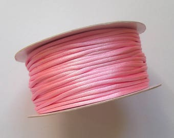 4 meters of satin pink 2 mm Rattail Cord / wire shamballa