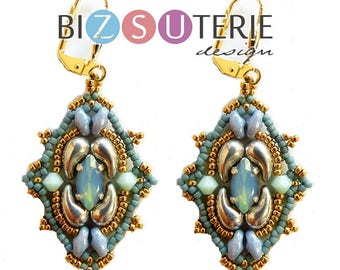 Kathleen earrings - instant download beading pattern