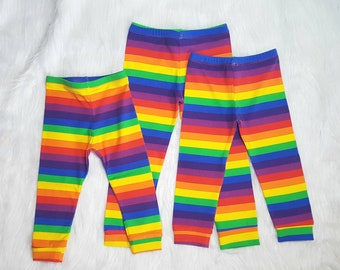 Rainbow leggings, baby leggings, unisexleggings, baby girls leggings, rainbow baby, hipster leggings, multi coloured leggings,