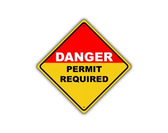 Danger Permit Required Confined Space Do Not Enter Metal Aluminum Sign 12x12