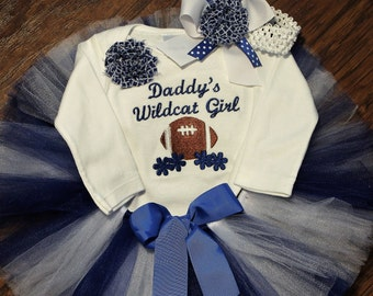 Kentucky baby etsy kentucky kentucky wildcats baby shower gift new baby gift baby girl gift bodysuit baby tutu blue white football custom handmade negle Choice Image