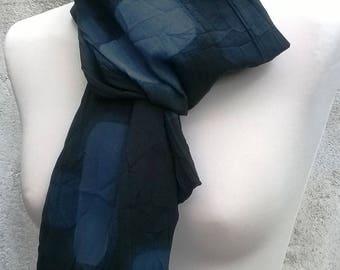 Echarpe/foulard tons noir et gris coton