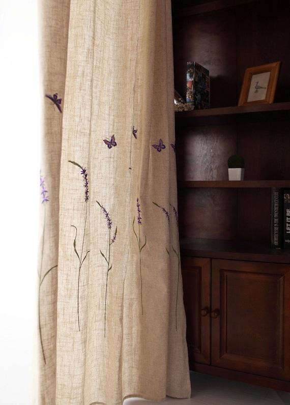Rustikale Gardinen rustikale schäbige schicke minimalistische lavendel lila