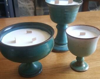 Soy wax wooden wick goblets