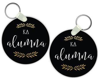 KD Kappa Delta Alumna Keychain Sorority Gift Sorority Keychain