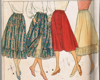 Butterick 4213 Misses Skirt & Petticoat Sewing Pattern Size 12 Size 14 Size 16 Factory Folded Uncut