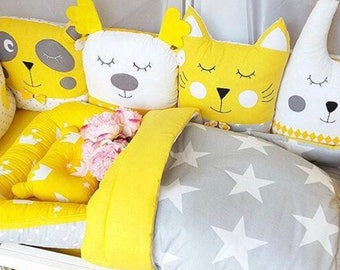 Crib bumpers,Baby Bedding Set,Nursery bedding,Cot Bumper,Baby shower,Crib bedding,Baby sllep set,cradle bedding,Baby nest,Cocon,Baby blanket