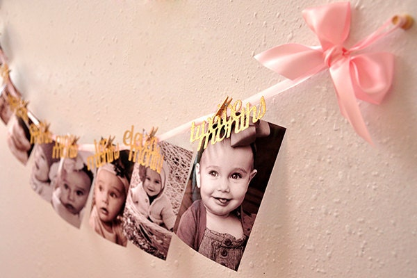 Pink and Gold First Birthday Decorations Handcrafted in 25
