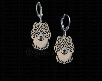 Canadian Eskimo dog / Inuit dog earrings - sterling silver