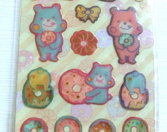 Hungry Teddy Bear 3D Stickers