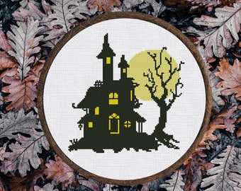 Cross Stitch Pattern Haunted House Instant Download PDF Counted chart