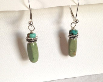 Turquoise Stem and Bud Earrings