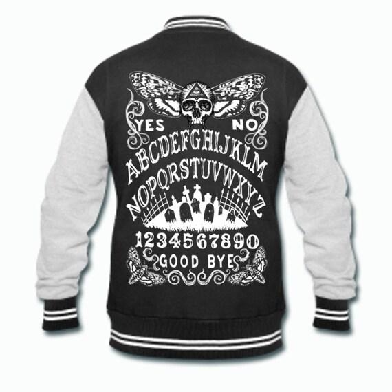 Ouija Board Skull Moth Varsity Goth Jacket