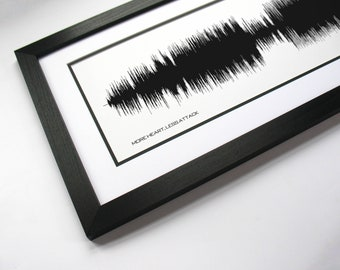 More Heart, Less Attack - Song Lyric Art, Music Design generated from waveform