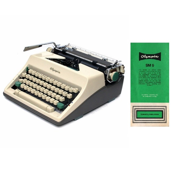 Olympia Sm9 Portable Typewriter Instruction Manual Instant