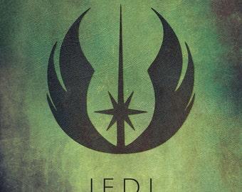 Star Wars Jedi Emblem Fan Art Digital Print