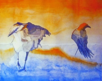 """Giclee print """"Gesture Crows"""" - price includes shipping"""