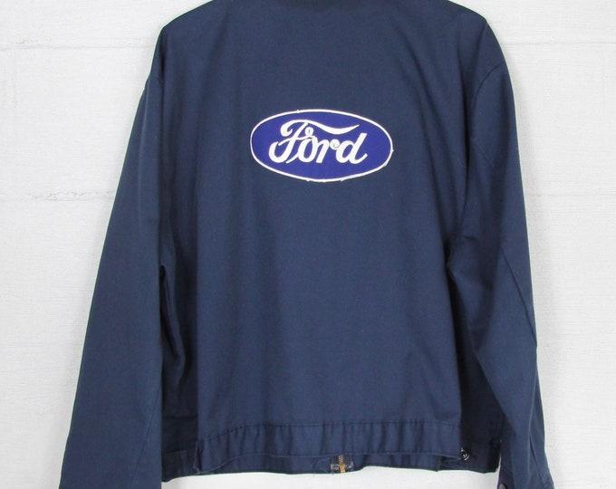 ORIGINAL Vintage Ford Work Coat Mechanic Jacket Size L Large