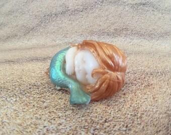Mermaid Soap - Mermaid Soap Favors - Sleeping Mermaid - Nautical Soap - Ocean Soap - Sea Soap - Nautical Wedding Favor - Mermaid Baby Shower