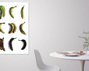 Death of a Banana - 24x36 Watercolor Seltzer Large Scale Poster - Oversized Print Statement Art