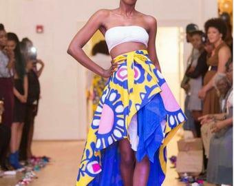 Trinity Floor length Wrap Skirt