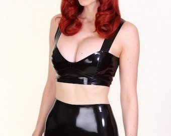 Crop Top - Latex Top - FREE SHIPPING