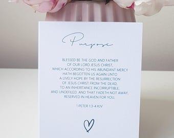 Luxury Linen Bible Verse Cards Pack