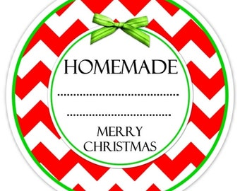 Christmas Labels, Food Labels, Christmas Canning Labels, Made For You Stickers, From The Kitchen Stickers