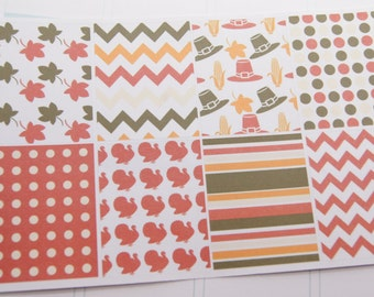 Thanksgiving Full Box Planner Stickers PS236b Fits Erin Condren