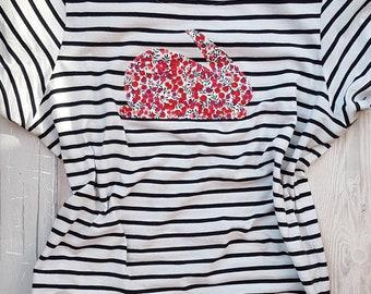 "SIGNATURE BUNNY ""big kids"" nautical striped t-shirt!"