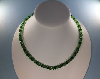 July 4th  SALE 30% , Chrome Diopside  Necklace, Chrome Diopside Gemstone Necklace  , gemstone Necklace , Birthstone Necklace
