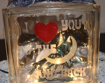 Night Light Love You Hand Etched Painted Child Baby Special Lighting