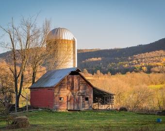 Broken Barn - landscape photography print - upstate ny - farm photography - wall art - farmland art - country art - Eye Was Here