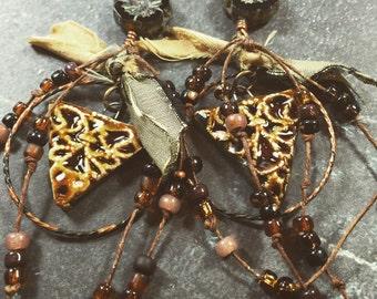 Sacred Triangle Dangle Earrings by SusanARay of OneHealingStone