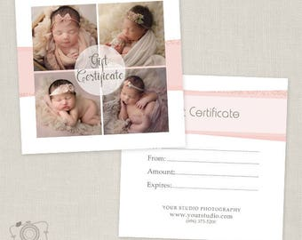 Photography Gift Certificate Template 011, INSTANT DOWNLOAD