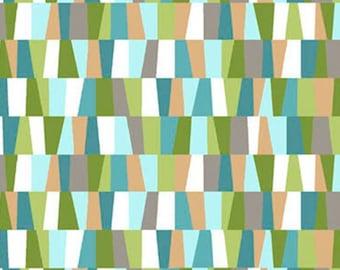 HEADS UP - Irrregular Check in Aqua Blue / Green - Cotton Quilt Fabric - Studio 8 for Quilting Treasures Fabrics - 24253-Q (W4048)
