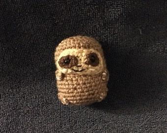 A Mini Chubby Sloth/ A Crocheted Mini Chubby Sloth/ Amigurumi/Kawaii Styled Stuffed Toy/ Kawaii Plush/ Sloth Plush