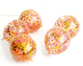 Sunshine Burst Confetti Party Balloon Collection for Tropical Summer Themed Birthdays Venue Decor