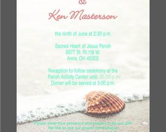 Personalized wedding invitation