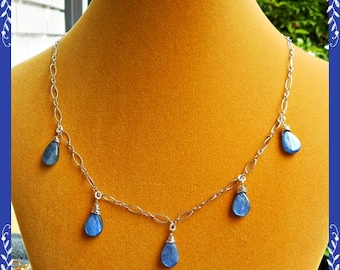 Kyanite & Sterling Silver Necklace
