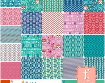 Vienna 10 Inch Layer Cake Bundle Stacker - 42 Piece COMPLETE - Andrea Muller Jolijou - Riley Blake Fabrics