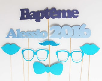 Photobooth child baptism set - personalized